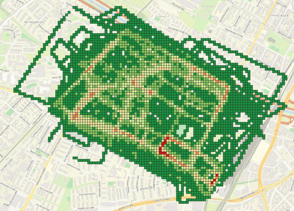 Nachbarschaftsgrenzen Grid Haslach